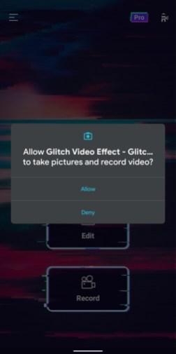 Video editor - glitch video effects - 3