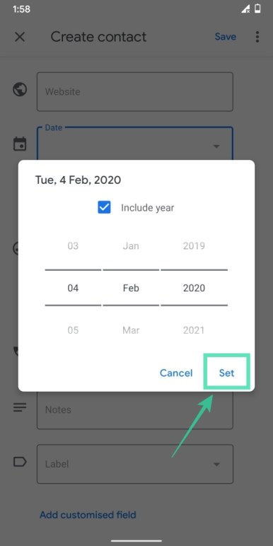 Add contacts on Googlr-18-a
