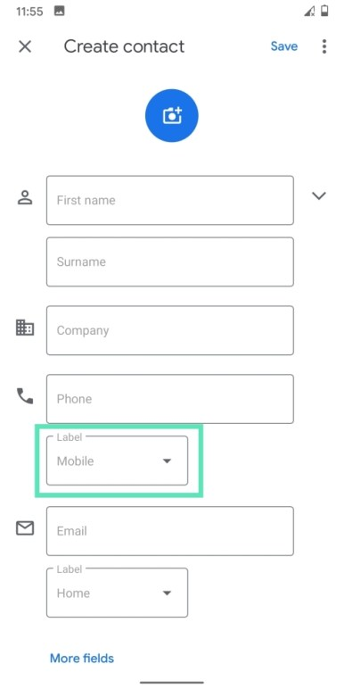 Add contacts on Googlr-8-b