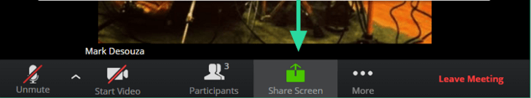 share screen on Zoom