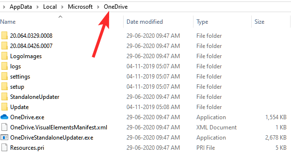 delete everything in onedrive folder