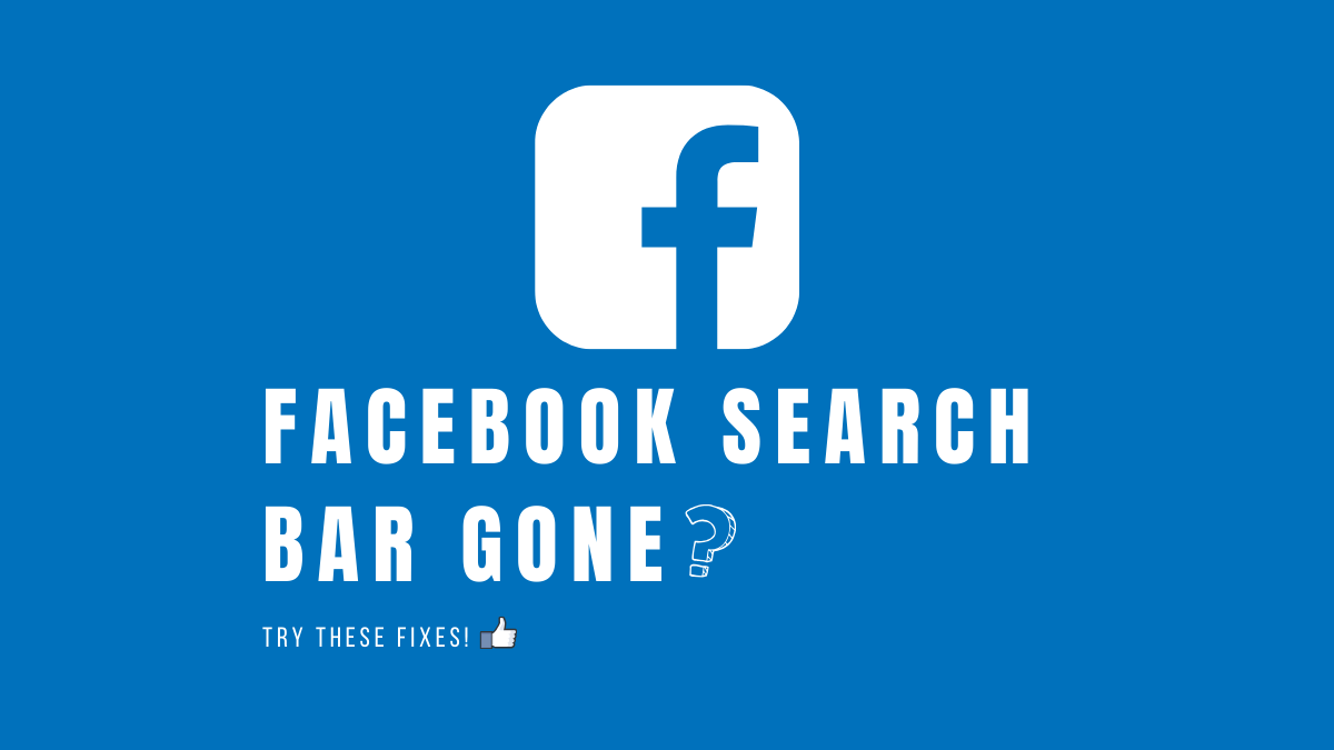 Facebook Search Bar Gone Try These Fixes Facebook graph search was a semantic search engine that was introduced by facebook in march 2013. facebook search bar gone try these fixes
