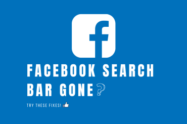 Facebook Search Bar gone. Try these fixes