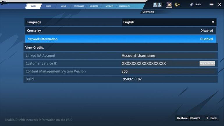 screenshot of Rocket Arena friends tab