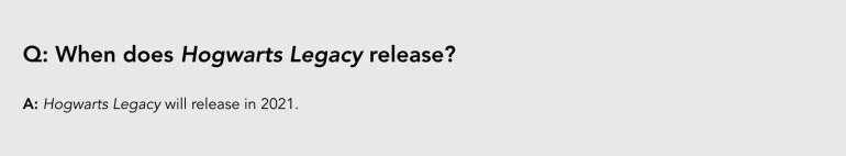 Hogwarts Legacy Release Date Warner Bros FAQ