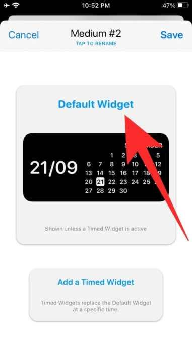 How to use Widgetsmith-14-a