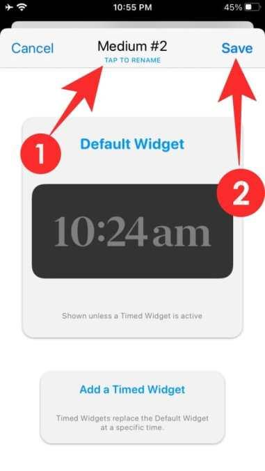 How to use Widgetsmith-22-a