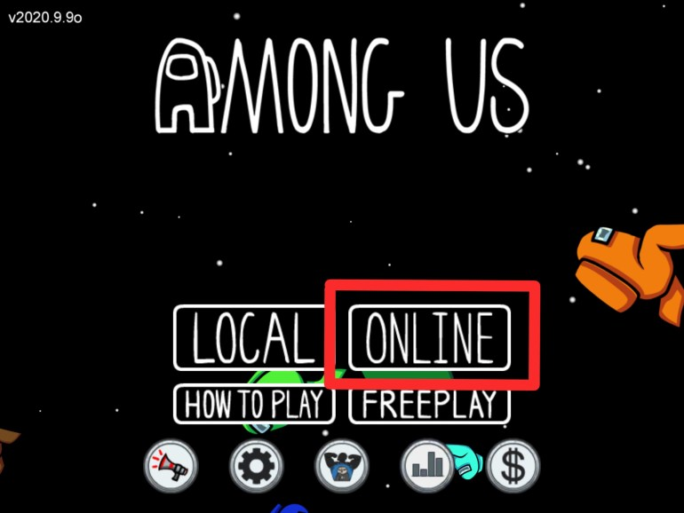 Among Us Menu Online