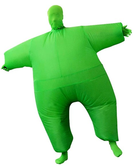 Among Us Halloween Fat Jumpsuit Green