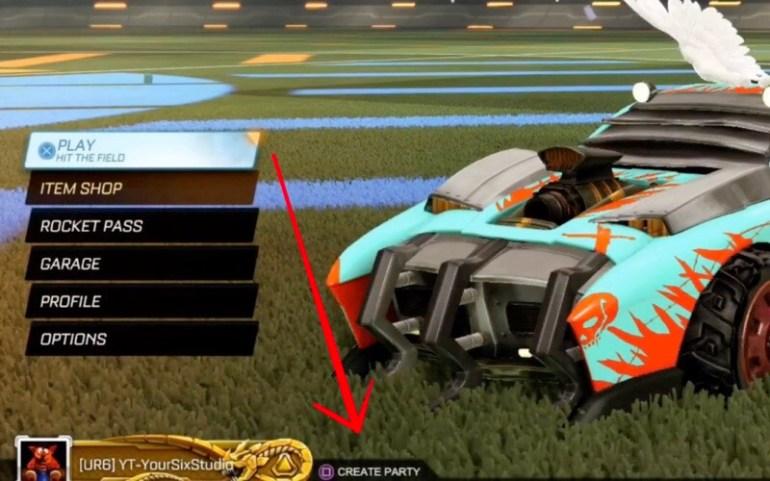 Rocket League Create Party PS4