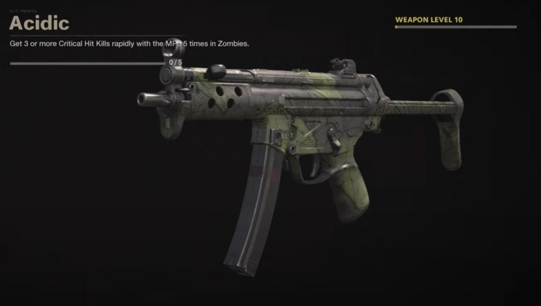 Black Ops Cold War Zombies Camo Challenges - Acidic