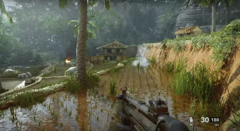 Black Ops Cold War Zombies new map - Vietnam cutscene easter egg with rice paddy