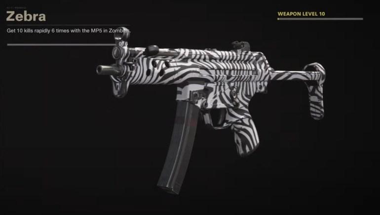 Black Ops Cold War Zombies Camo Challenges - Zebra