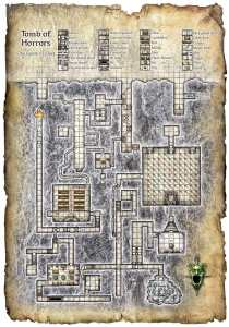 Map of the Tomb of Horrors. Click to embiggen.