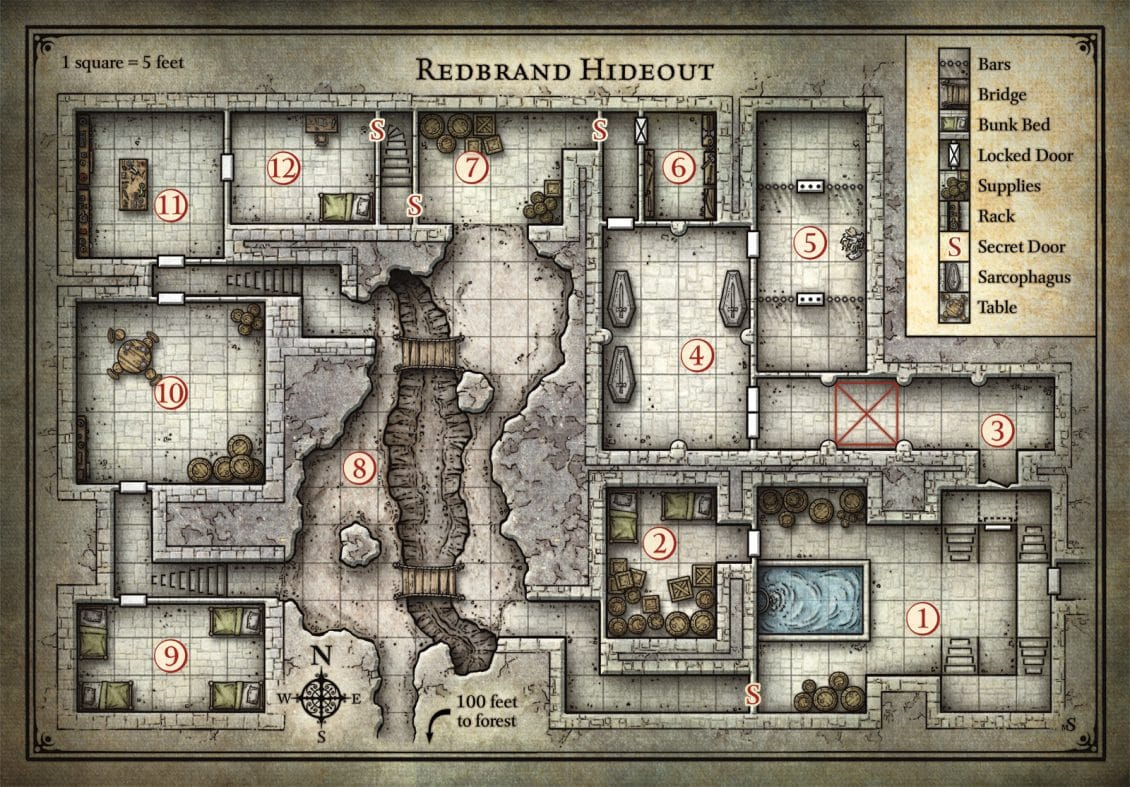 When to Use a Map in Your D&D Games Dnd Maps on