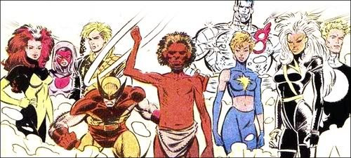 The lineup for the Australian years of the X-Men.