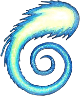 Pathfinder Second Edition swirling symbol of Pharasma, the Lady of Graves.