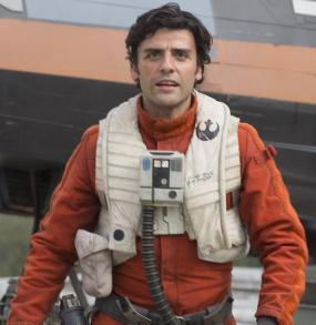 Poe Dameron Starfinder build, decked out in the Rebel pilot gear.