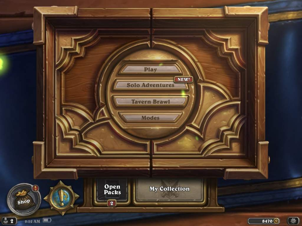 hearthstone main screen