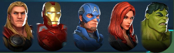Marvel Strike Force Avenger Wave I