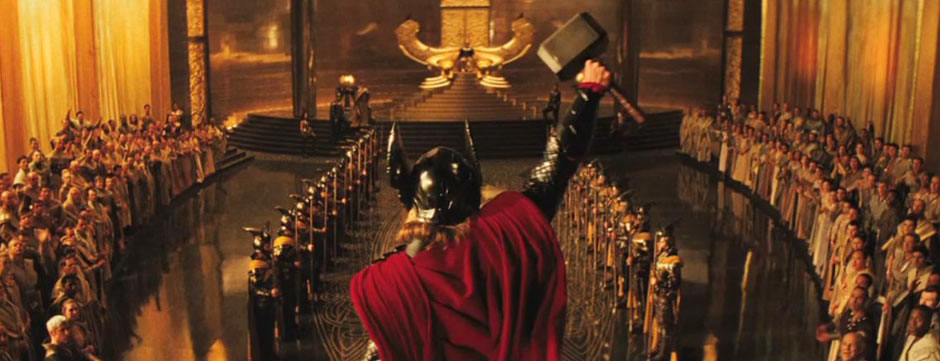 Thor in the throne room