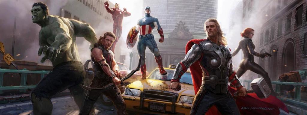 awesome avengers art