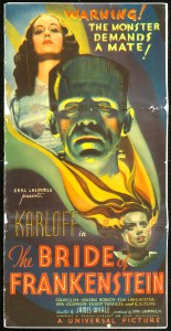 """The Academy of Motion Picture Arts and Sciences will host a month-long series of screenings of classic horror films with """"Universal's Legacy of Horror"""" in October.  The series is part of the studio's year-long 100th anniversary celebration engaging Universal's fans and all movie lovers in the art of moviemaking. Pictured: THE BRIDE OF FRANKENSTEIN, 1935."""