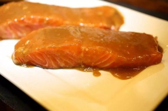 Miso Glazed Crispy-Skinned Salmon