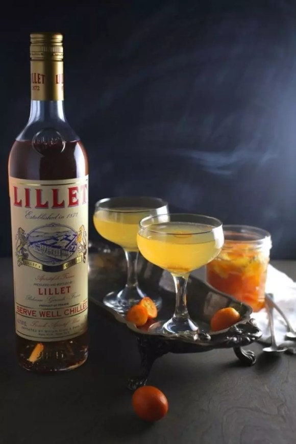 Kumquat-Ginger Rosé Cocktail