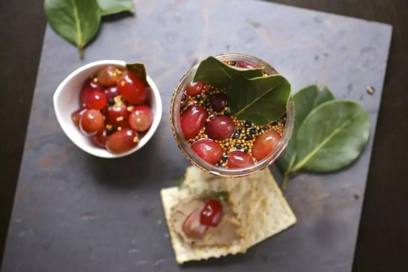 Spiced Pickled Grapes
