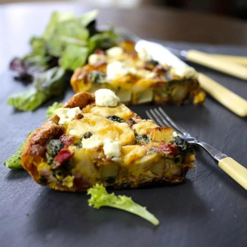 Potato, Spinach & Cheese Frittata