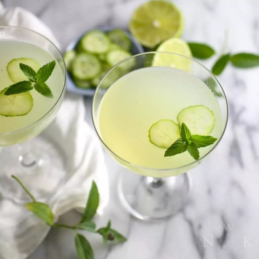 Cucumber and Mint Gimlet