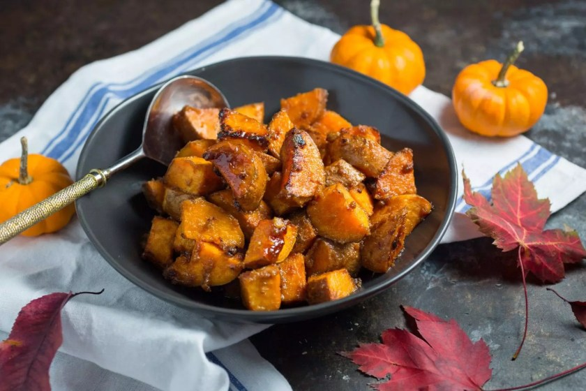 Roasted Miso-butter and Maple Sweet Potatoes