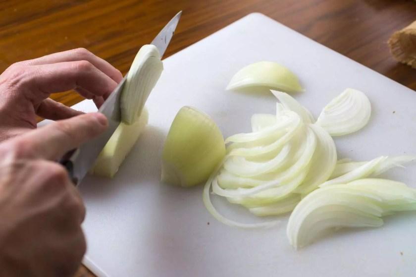 French Onion Strata - a savory bread pudding