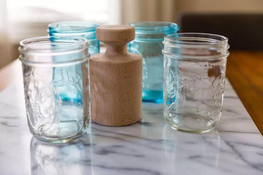 Pie dolly and jam jars
