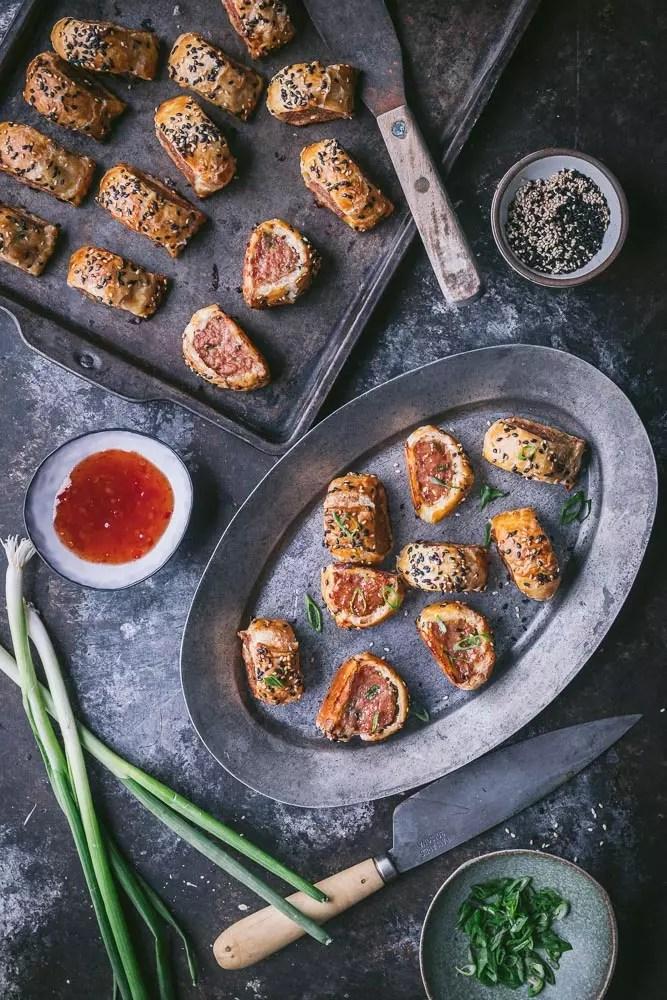 Dumpling-style Sausage Rolls