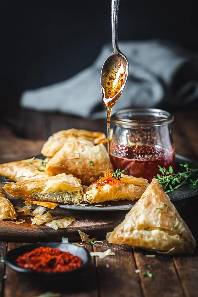 Phyllo Goat Cheese Triangles