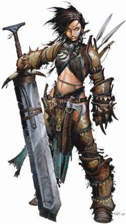 Pathfinder Roleplaying Game Female Barbarian art (Paizo Publishing)