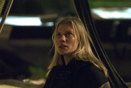 Katee Sackhoff as Kara 'Starbuck' Thrace in Battlestar Galactica