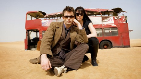 David Tennant and Michelle Ryan in Planet of the Dead