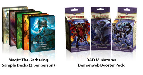 Magic The Gathering Dungeons and Dragons Demonweb miniatures