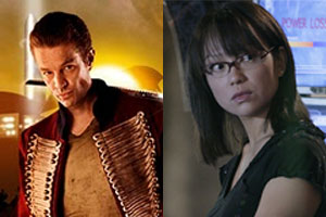James Marsters and Naoko Mori
