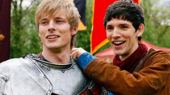 Arthur (Bradley James) and Merlin (Colin Morgan)