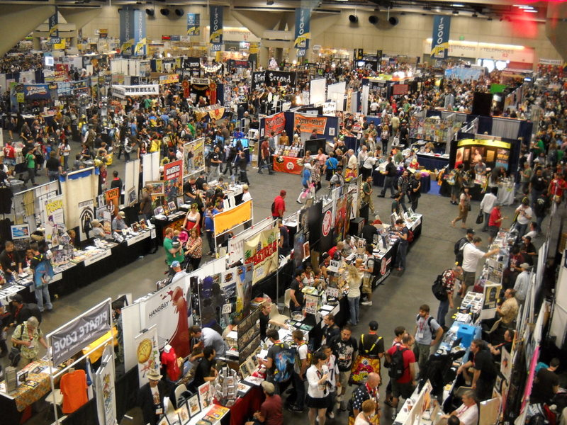 The San Diego Comic-Con floor as seen from above.