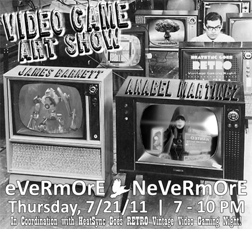 Video Game Art Show at Evermore Nevermore