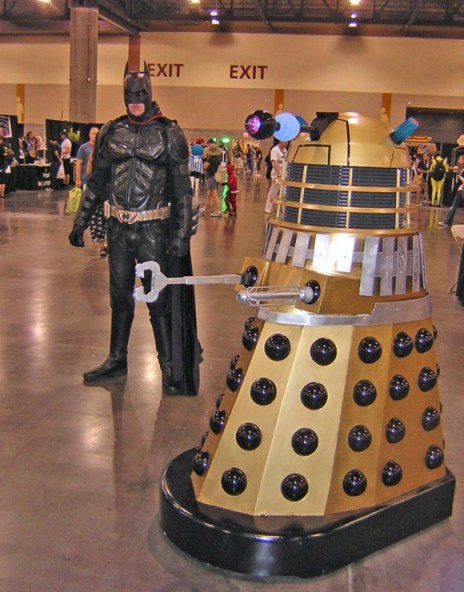 Batman & Dalek at Phoenix Comicon