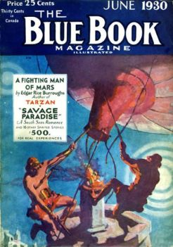Laurence Herndon's Blue Book magazine pulp cover artwork