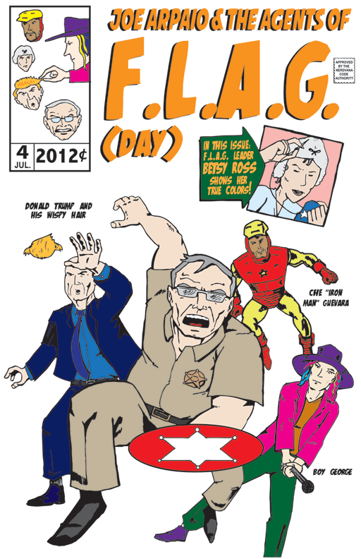 Amazing Arizona Comics: Agents of FLAG (Day) by Russ Kazmierczak Jr. starring Maricopa County Sheriff Joe Arpaio and Donald Trump