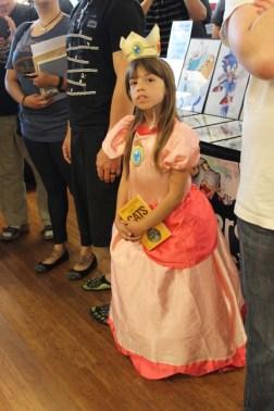 Princess Peach made an appearance as well.