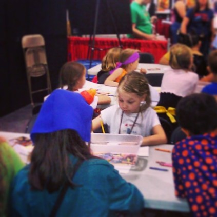 Kids Need to Read, Build a Book event